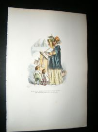 Grandville des Animaux 1842 Hand Col Print. Author Bird